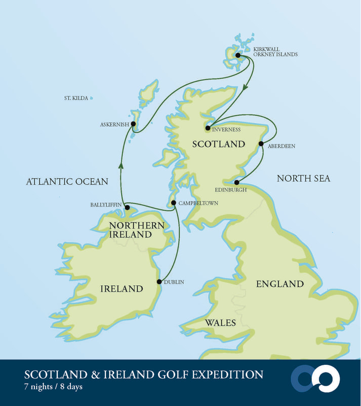 Golf Map Of Ireland.Scotland And Ireland Golf Expedition Cruise Emerald Tours Inc